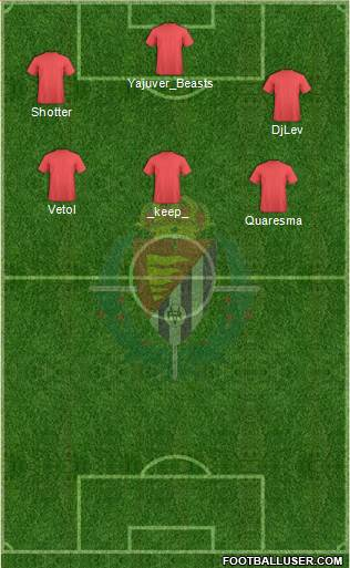 R. Valladolid C.F., S.A.D. 4-1-4-1 football formation