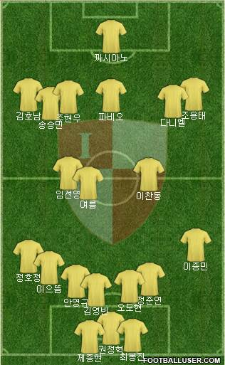 Busan I'PARK 4-2-3-1 football formation