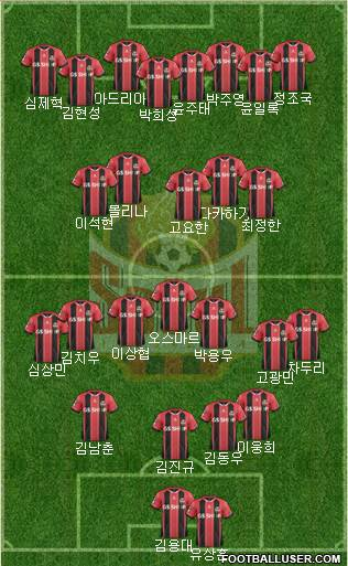 FC Seoul 3-5-2 football formation