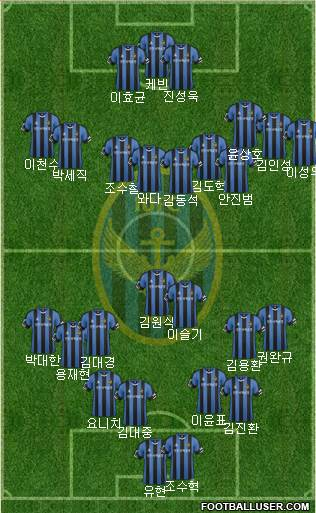Incheon United 4-1-4-1 football formation