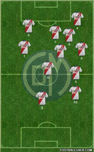 CC Deportivo Municipal 4-1-3-2 football formation