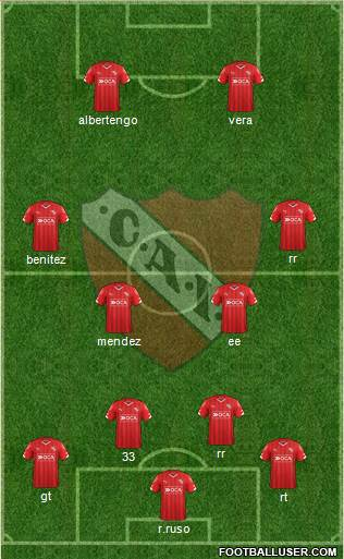Independiente 4-1-2-3 football formation