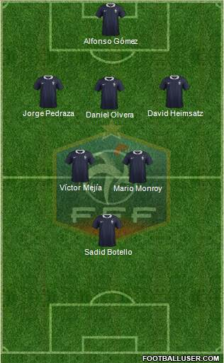 France 3-4-1-2 football formation