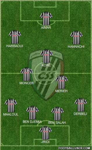 Club Sportif Sfaxien 4-2-3-1 football formation