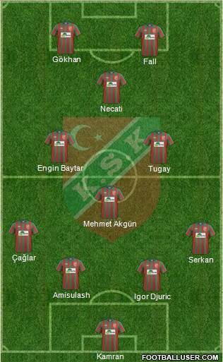 Karsiyaka 4-4-2 football formation