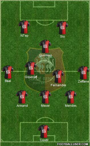 Stade Rennais Football Club 3-5-2 football formation