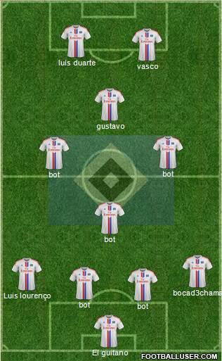 Hamburger SV 4-3-1-2 football formation