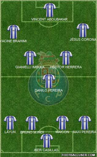 Futebol Clube do Porto - SAD 4-3-3 football formation