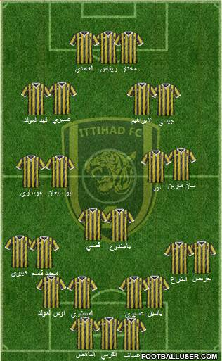 Al-Ittihad (KSA) 4-3-2-1 football formation
