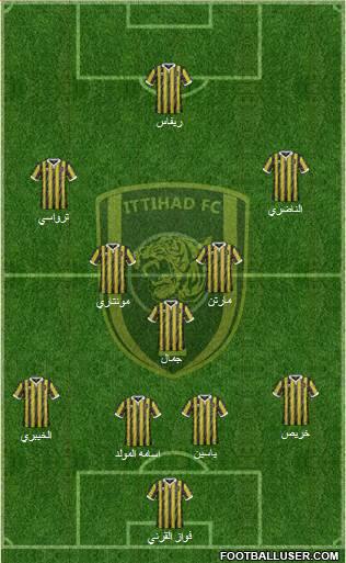Al-Ittihad (KSA) 4-1-4-1 football formation