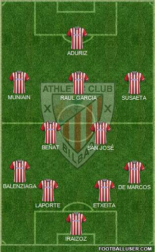 Athletic Club 4-2-3-1 football formation