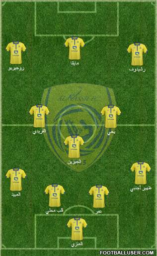 Al-Nassr (KSA) 4-4-2 football formation