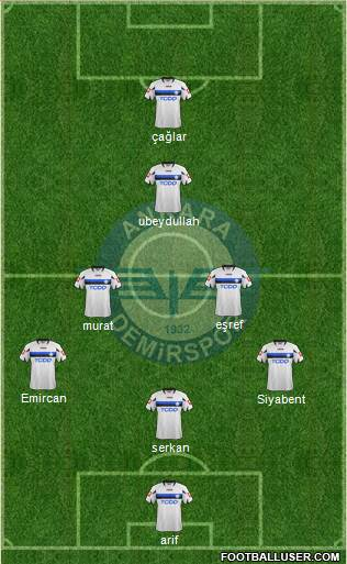 Ankara Demirspor 4-1-4-1 football formation