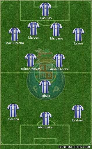 Futebol Clube do Porto - SAD 4-1-2-3 football formation