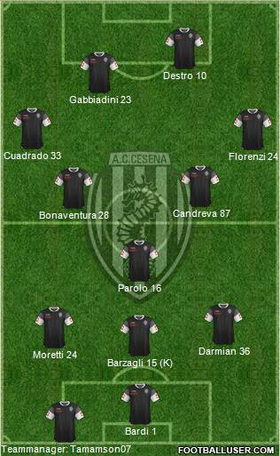 Cesena 3-5-2 football formation