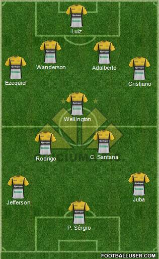 Criciúma EC 4-1-4-1 football formation