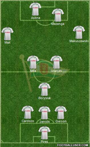Lechia Gdansk 3-5-1-1 football formation