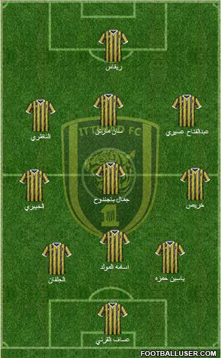 Al-Ittihad (KSA) 3-5-2 football formation