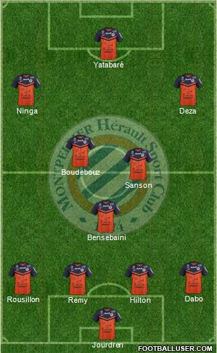 Montpellier Hérault Sport Club 4-3-3 football formation