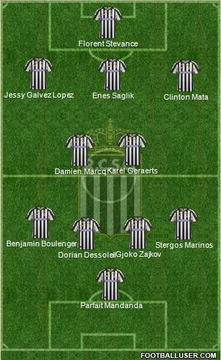 Sporting du Pays de Charleroi 3-5-1-1 football formation