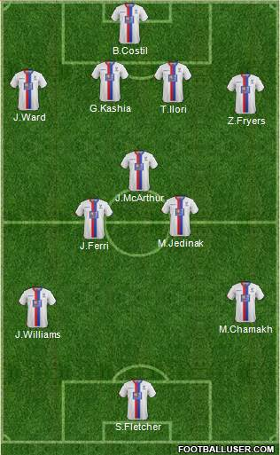 Crystal Palace 4-3-3 football formation