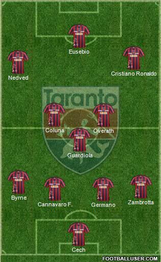 Taranto 4-3-3 football formation