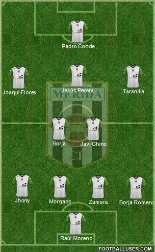 U.D. Mérida 4-2-3-1 football formation
