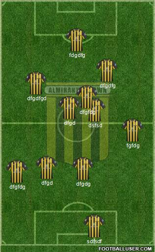 Almirante Brown 4-2-4 football formation