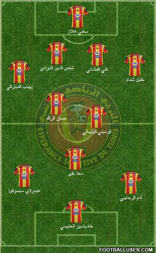 Espérance Sportive de Tunis 4-4-1-1 football formation