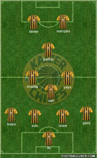 Kaizer Chiefs 4-3-1-2 football formation