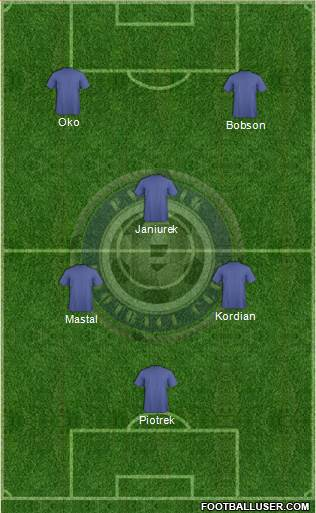 Pyunik Yerevan 4-2-2-2 football formation