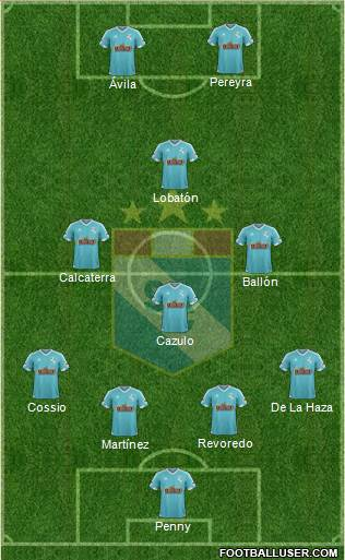 C Sporting Cristal S.A. 4-3-1-2 football formation