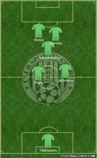 CS Eforie 4-1-4-1 football formation