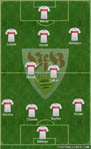 VfB Stuttgart 4-2-3-1 football formation