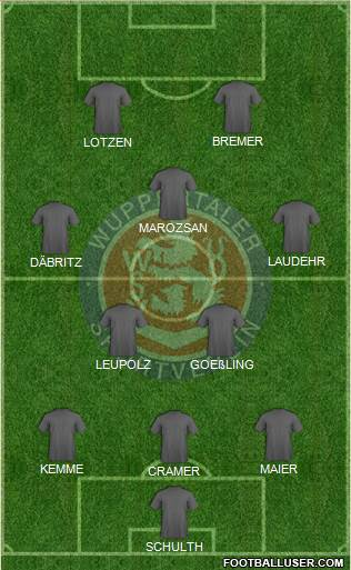 Wuppertaler SV Borussia 3-5-2 football formation