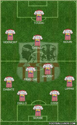 Athletic Club Ajaccien Football 4-2-3-1 football formation