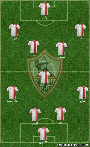 Zamalek Sporting Club 4-1-4-1 football formation