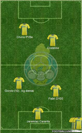 Al-Gharrafa Sports Club 4-4-2 football formation