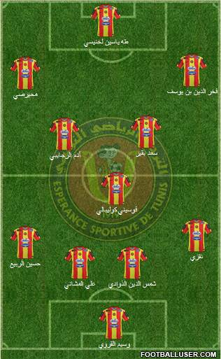 Espérance Sportive de Tunis 4-1-4-1 football formation