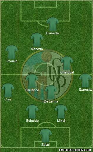 U.D. Salamanca S.A.D. 4-4-2 football formation