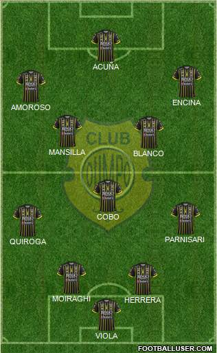 Olimpo de Bahía Blanca 4-1-4-1 football formation