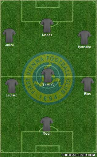 First Vienna FC 1894 5-4-1 football formation