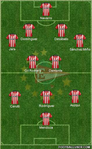 Estudiantes de La Plata 4-2-3-1 football formation