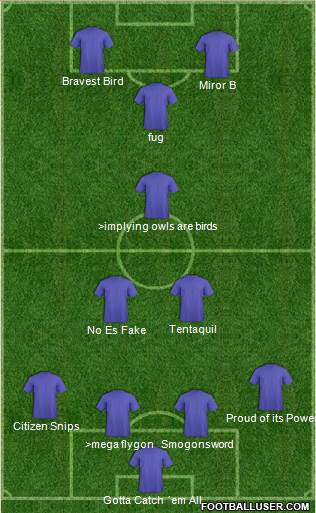 Pro Evolution Soccer Team 4-3-3 football formation