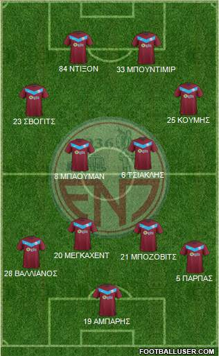 EN Paralimniou 4-4-2 football formation