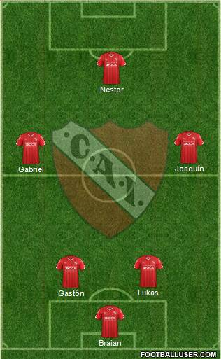 Independiente 4-2-1-3 football formation
