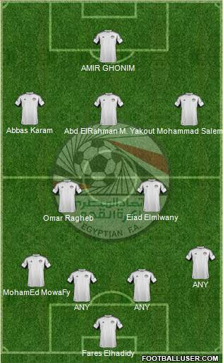 Egypt 4-2-3-1 football formation