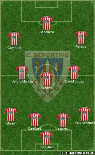 C.D. Lugo 4-3-3 football formation