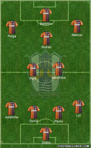Ehime FC 4-2-1-3 football formation