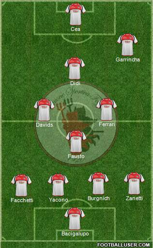 Foggia 4-4-1-1 football formation